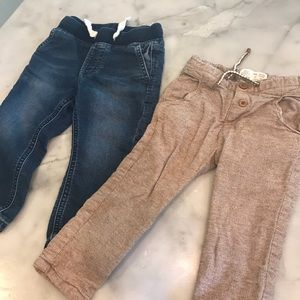 Other - 1 gap jean joggers and 1 Zara brown trousers